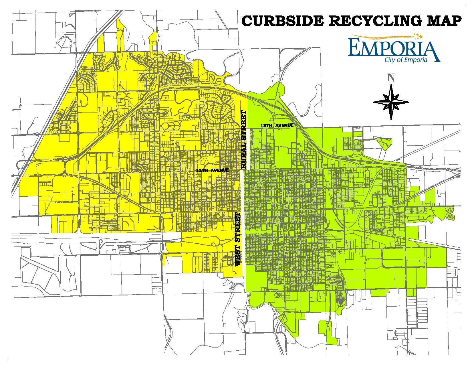 Curbside Recycling Map
